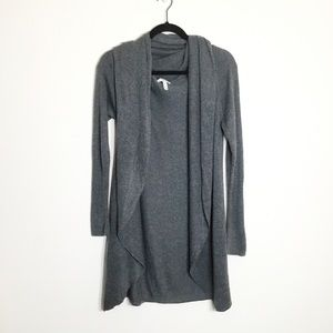 Leith Women's Gray Open Front Cardigan Small
